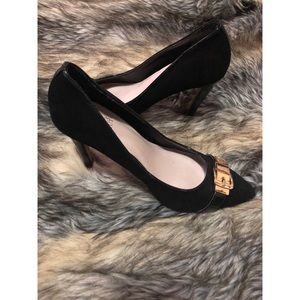 Vince Camuto Suede and Patent Leather Heels